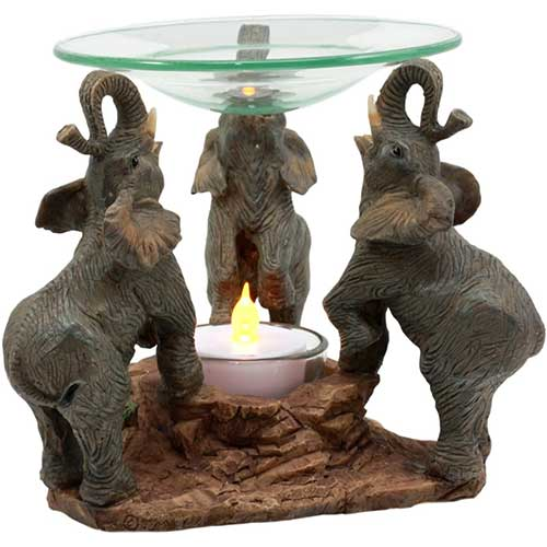 Elephant Oil Warmer Statue