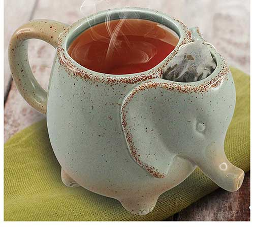 Elephant Tea Mug Green