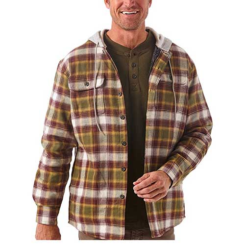 Flannel Lined Hooded Jacket