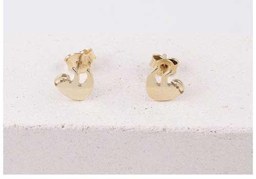 Gold Sloth Earrings