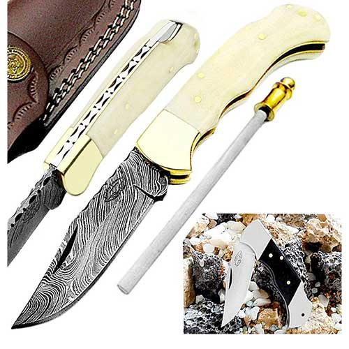 Ivory Like Pocket Knife Set