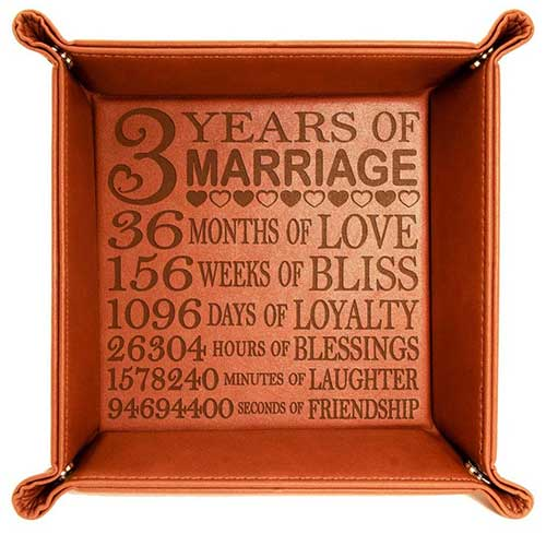 Leather Anniversary Tray