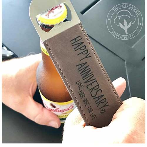 Leather Bottle Opener