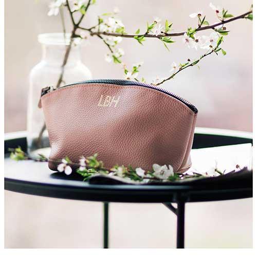 Leather Makeup Bag