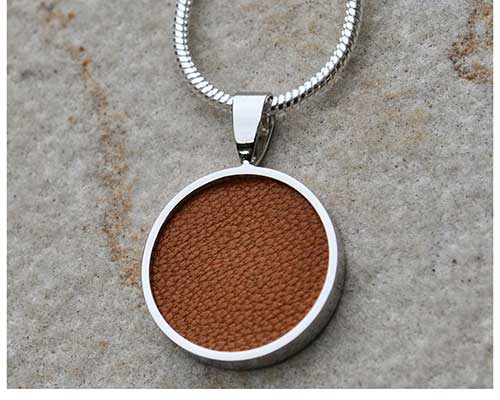 Leather Round Necklace