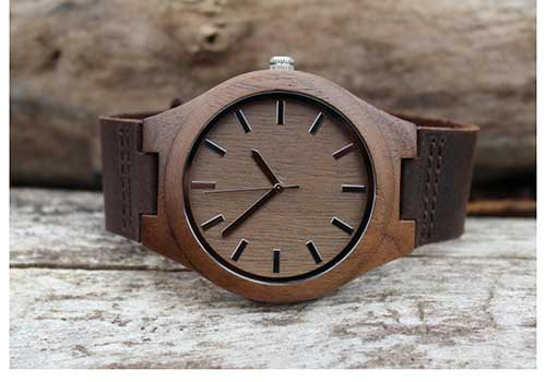 Leather and Wood Watch