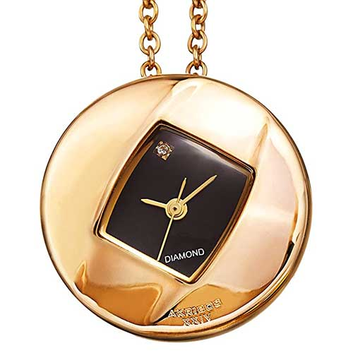 Long Chain Diamond Pendant Watch
