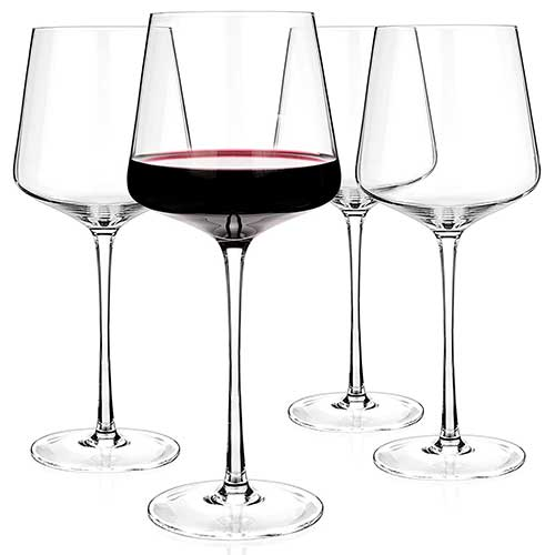 Luxbe Crystal Wine Glass Set