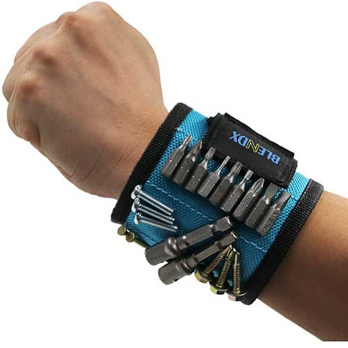 Magnetic Wrist Band to Hold Tools