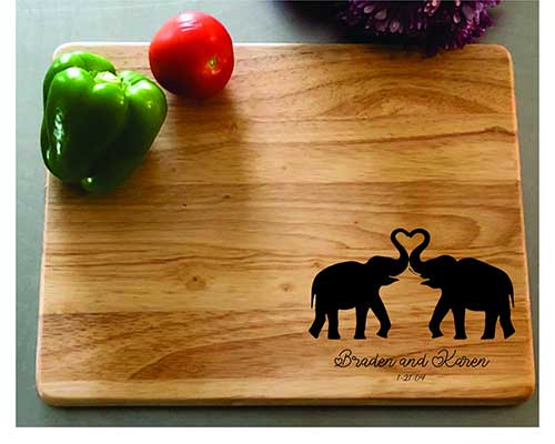 Personalized Anniversary Cutting Board