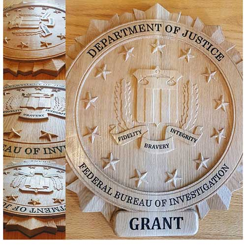 Personalized FBI Shield