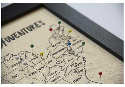 Personalized Push Pin Map