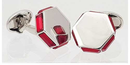 Ruby Crystal Cufflinks