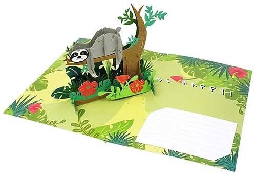 Sloth 3D Greeting Card