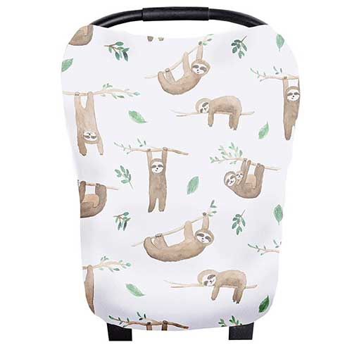 Sloth Baby Car Seat Cover Canopy