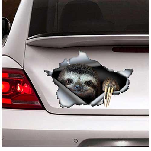 Sloth Car Decal