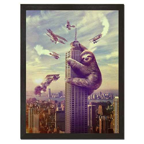 Sloth King Kong Print