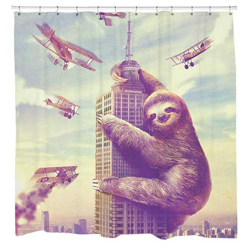 Sloth King Kong Shower Curtains