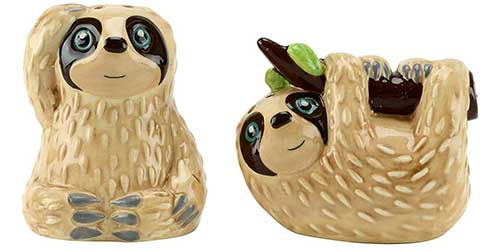 Sloth Salt and Pepper Shakers