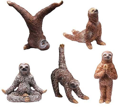Sloth Yoga Action Figures