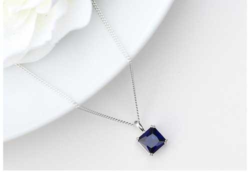 Solitaire Sapphire Pendant