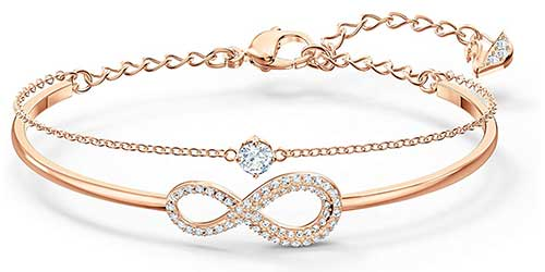 Swarovski Gold Plated Bangle Bracelet for Women