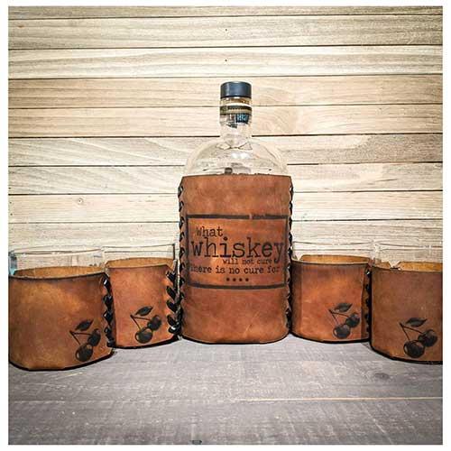 Whiskey Leather Set