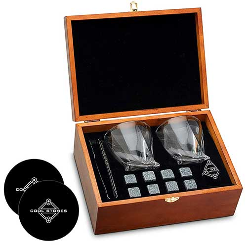Whisky Stone and Glass Boxes Set