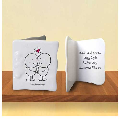 Bone China Anniversary Card