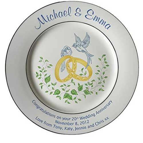 Bone China Commemorative Plate