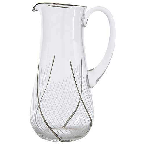Crystal Pitcher with Platinum Detailing