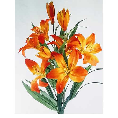 Daylily Faux Floral Arrangement