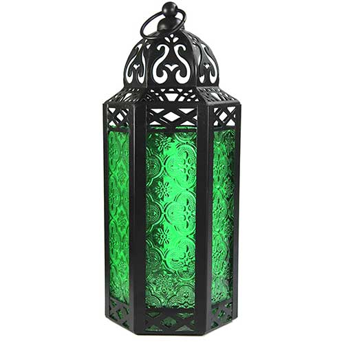 Green Candle Lantern