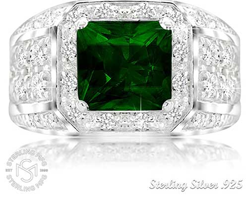 Man's Emerald Ring