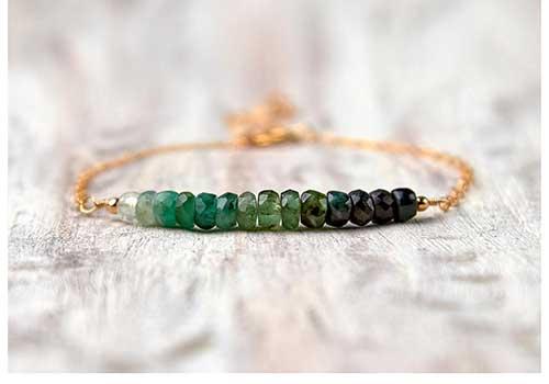 Ombre Emerald Bracelet