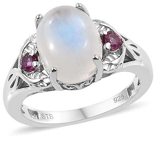 Platinum Plated Moon Ring