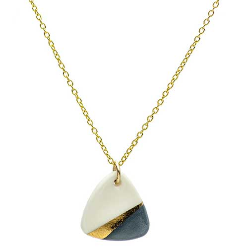 Porcelain Ray Gray Necklace