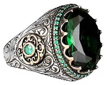 Stately Emerald Ring for Men