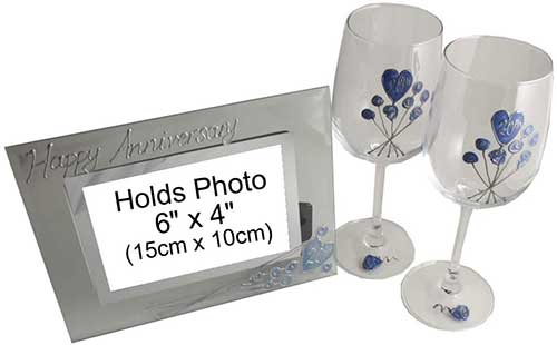 Wine Glass and Photo Frame Set