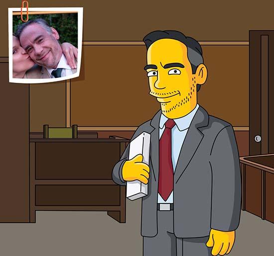 Custom Simpsons Portrait