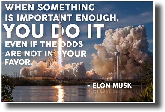 Elon Musk Motivational Poster