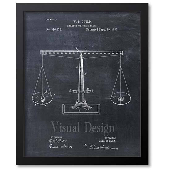 Scales of Justice Patent Print