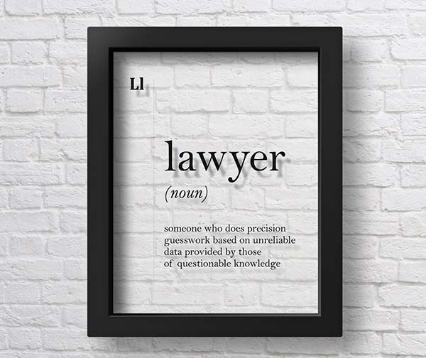 Transparent Lawyer Poster