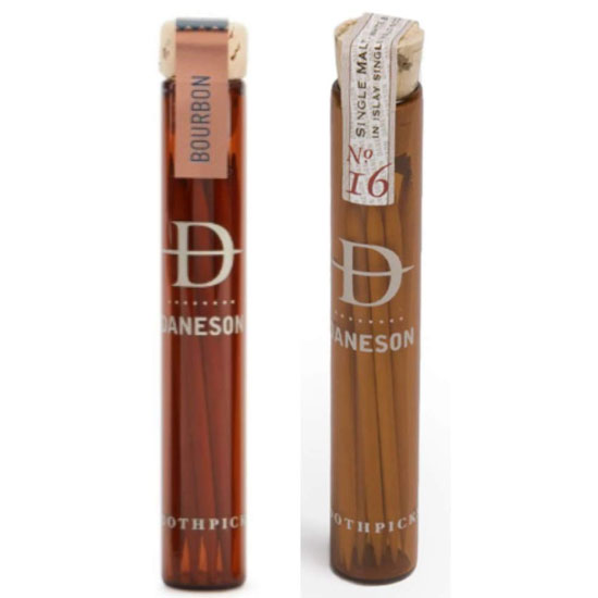 Whiskey Infused and Bourbon Flavored Toothpick