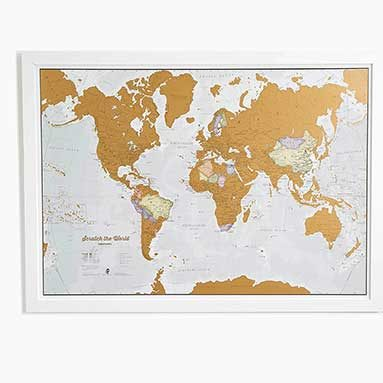 Unique gift ideas website gift finder homerungifts world map scratch poster gumiabroncs Image collections
